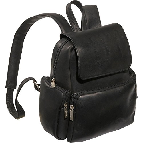 Royce Leather Tablet Ipad Backpack in Colombian Leather Laptop, Black, One Size