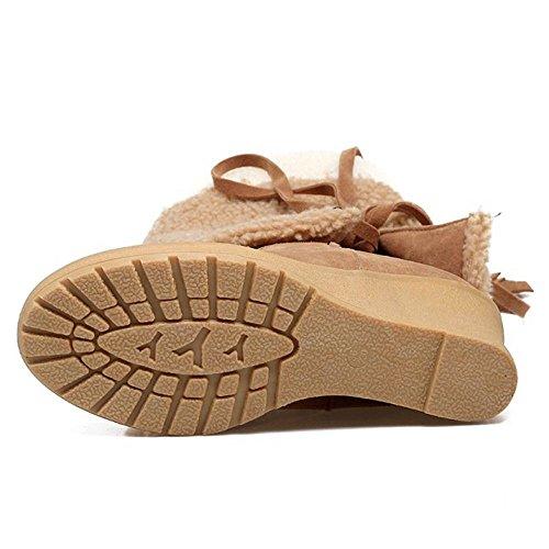 On KemeKiss Women Pull Yellow Boots q6zSX