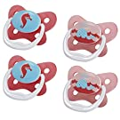 Dr. Brown's 4 Piece Prevent Butterfly Stage 1 Pacifier, Pink, 0-6 Month