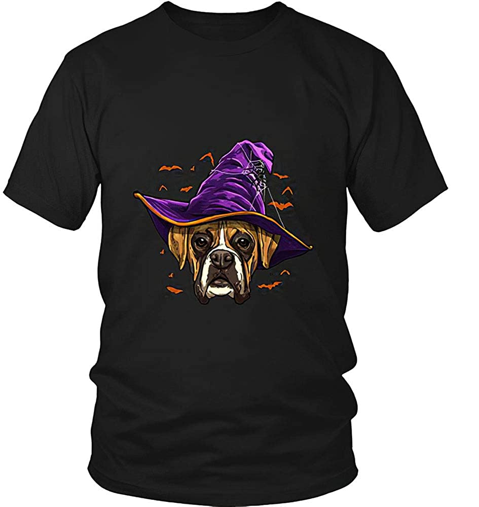 ANM 4Love Boxer Dog Witch Funny Dog Lover Girls Women T-Shirt