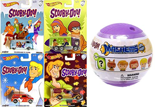 - Hot Wheels Dog Scooby Cars Pop Culture Collection Bundled with Mash'em Character Figure / Volkswagen Bus / Shaggy Delivery / Daphne Hauler Truck Velma / Fred Austin Mini Van 5 Items