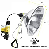 Simple Deluxe HIWKLTCLAMPLIGHTMX2 2-Pack Clamp Lamp Light with 8.5 Inch Aluminum Reflector up to 150 Watt E26 Socket (no Bulb Included) 6 Feet 18/2 SPT-2 Cord, Silver