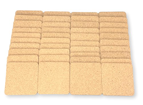 Square Cork Coasters - Set of 40 For business,Best Drink Coaster for Drinks in Office, Home, or Cottage