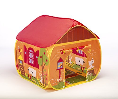 Pop-it-up Farm Play Tent with Playmat.red by pop-it-up