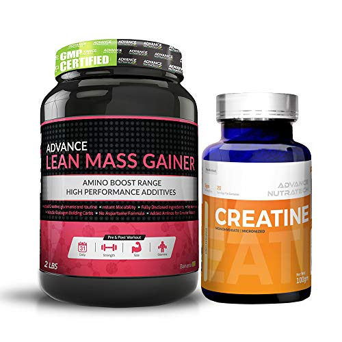 Advance Nutratech Lean Mass Gainer 1KG (2.2LBS) Banana + Creatine Monohydrate unflavored 100 gm ()