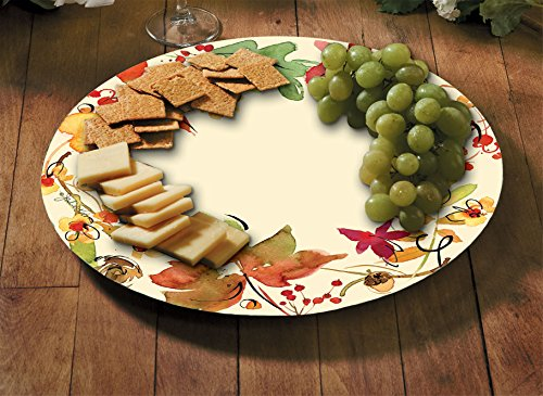 Counter Art 13'' Glass Lazy Susan Serving Plate, Fruitful Harvest