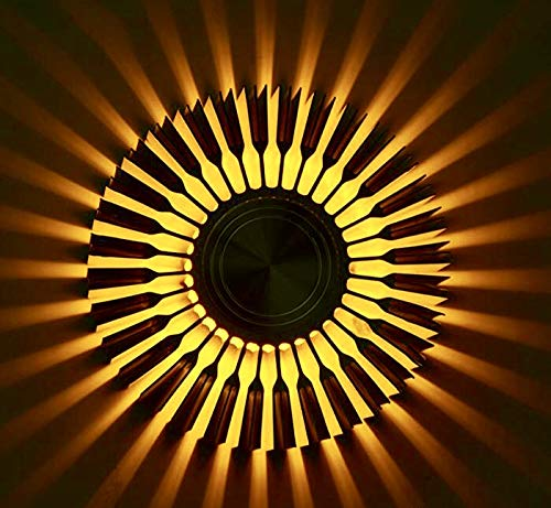 Smartway � - 3W Sunflower Decorative Wall Lamp Led with Remote - Multicolour