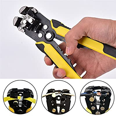 1Pcs 210Mm Adjusting Crimping Tool Auto Crimping Pliers Cutting Pressing Wire Stripper Self Multi-Function Electrician