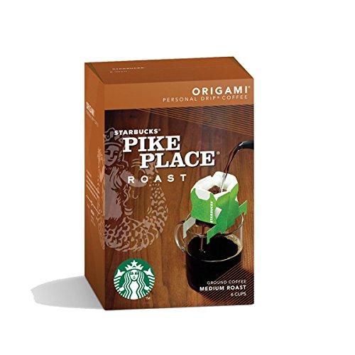 starbucks origami personal drip coffee pike place roast