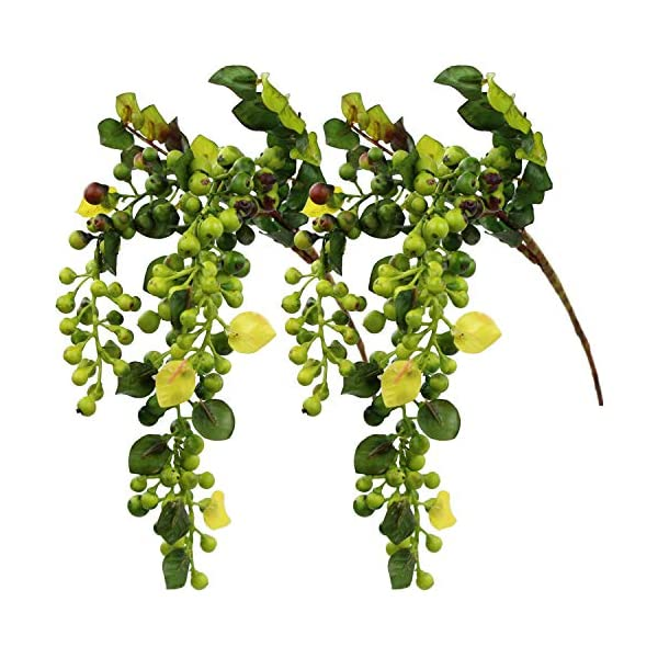 Rinlong-Artificial-Berries-Hanging-Spray-Frosted-for-Flowers-Arrangement-Home-Hotel-Decor-2pcs-per-Pack