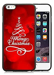 2014 Latest iPhone 6 Plus Case,Merry Christmas Black iPhone 6 Plus 5.5 TPU Case 23