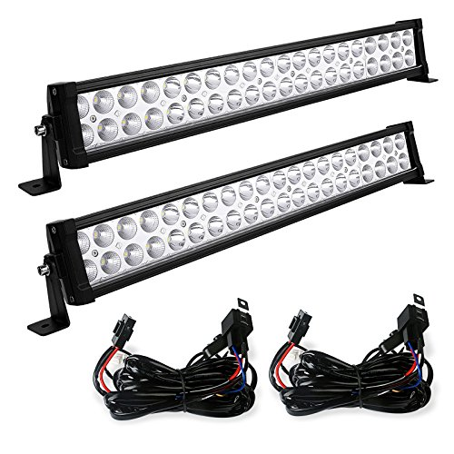 LED Light Bar YITAMOTOR 2PCS 24 inch Light Bar Spot Flood Co