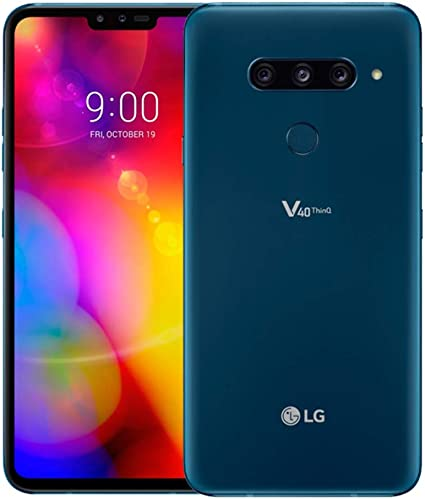 LG V40 ThinQ Dual SIM 128GB 6GB RAM V405EBW Moroccan Blue: Amazon ...