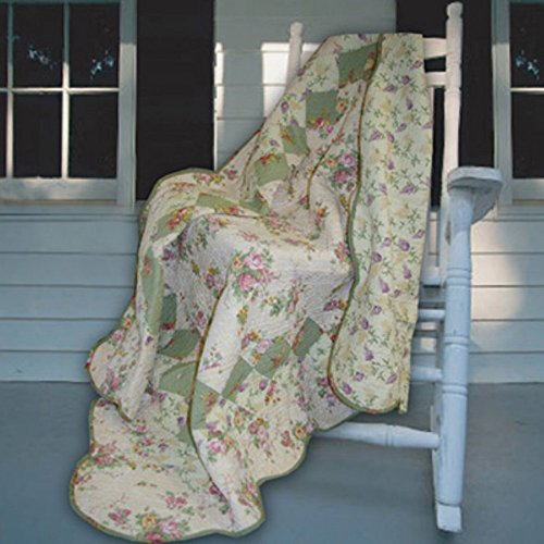 For Sale! Greenland Home Fashions Bliss - 50W x 60L in. Quilted Throw - Ivory