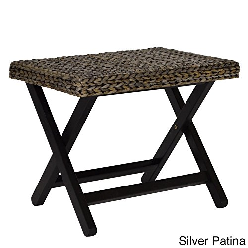 Gallerie Décor 21012-SIL Bali Breeze Folding Stool, One Size by Gallerie Décor
