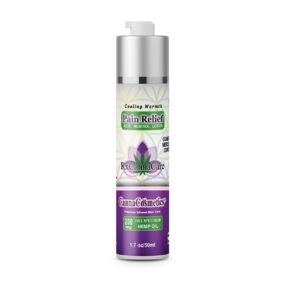 RxCannaCare Cooling Warmth Pain Relief Cream: 200 mg Full Spectrum Hemp Oil Infused Topical Pain Lotion w/Terpenes – 1.7oz/50ml