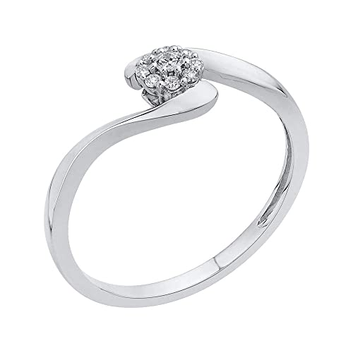 Size-4.25 G-H,I2-I3 1//10 cttw, Diamond Wedding Band in Sterling Silver