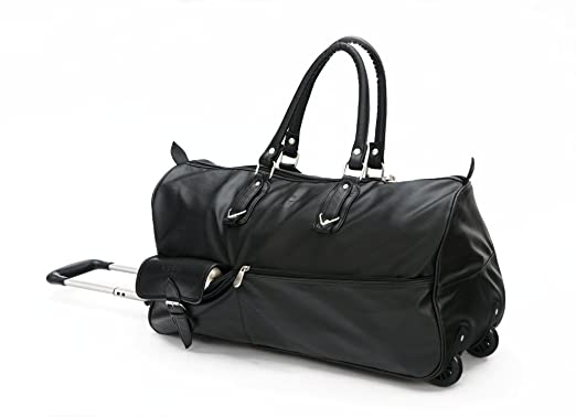MBOSS Strolley Travelling Bag STB002 - Black Travel Duffels at amazon