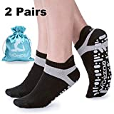 Product review for Muezna Non Slip Yoga Socks Women, Anti-Skid Pilates, Barre, Bikram Fitness Socks Grips, Size 5-10
