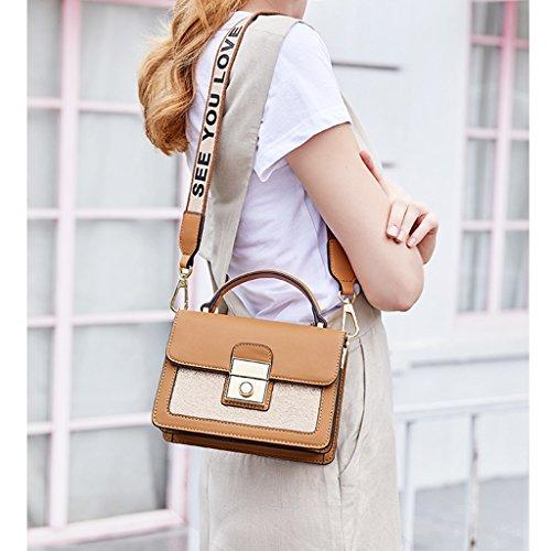 Sra A Leather Jiute Package Hombro La B Pu De B Korean Bag color Korean Mrs Jiute Pu De Leather Paquete Bolso Shoulder color 4W86nYT