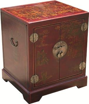 Deco Zen Feng Shui Petit Meuble Chinois Bout De Canape Style Cite Xian Amazon Fr Cuisine Maison