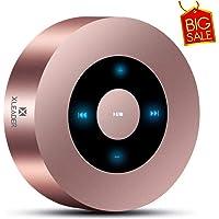 [Diseño LED Tacto] Altavoz Bluetooth, XLeader Altavoces Bluetooth Portátil con Sonido HD/ 12 Horas de reproducción/Bluetooth 4.1/ Soporte Micro SD, para iPhone/iPad/Tableta (Oro Rosa)