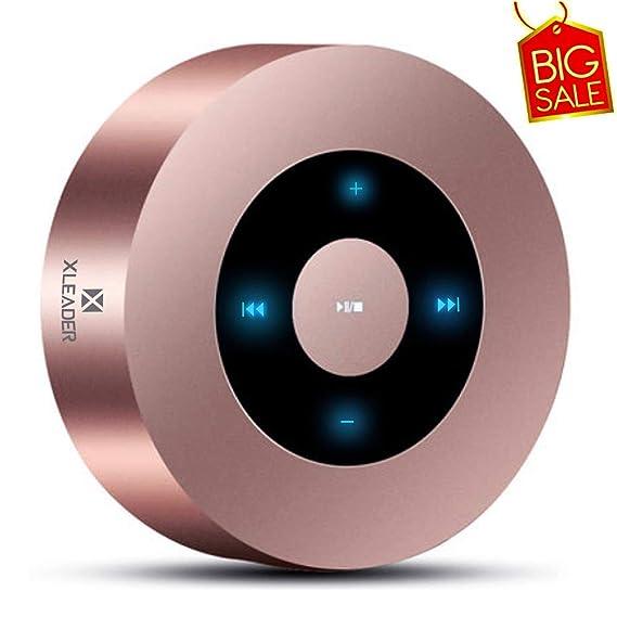 XLEADER SoundAngel (2.ªGen) Altavoz Bluetooth con Sonido HD 5W, diseño Táctil 15h música, Pequeño Altavoces Bluetooth Portátil para iPhone iPod Regalo, Oro Rosa
