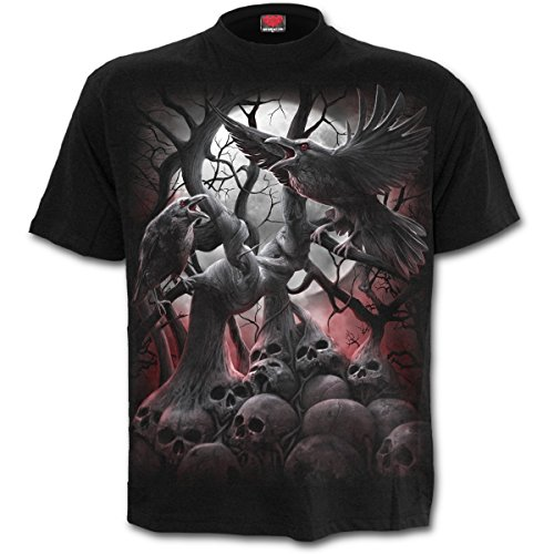 Nero Uomo Roots T shirt Da In Dark Spiral xwqz7H0BH