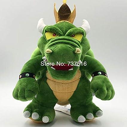 New Anime Super Mario Bros Green Plushie King Koopa Bowser