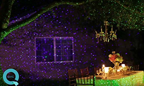 Purple Laser Light Projector by BlissLights Commercial Grade Indoor or Outdoor Laser Star Spotlight Includes Wireless Remote, 16 LED Accent Colors, Timer, Stake, and Thousands of FireFly Pinpoints by BlissLights (Image #5)