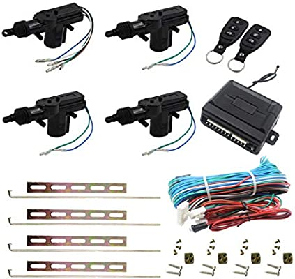 Amazon Com Henzxi Universal Car Power Door Lock Actuator 12v Motor 4 Actuactors Keyless Entry Automotive