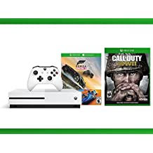 Xbox One S 500GB Console - Forza Horizon 3 Hot Wheels Console Bundle + Call of Duty WW II + WWE 2K16 Bundle ( 3 - Items )