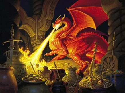 Smaug Dragon a 1000-Piece Jigsaw Puzzle by Sunsout Inc.