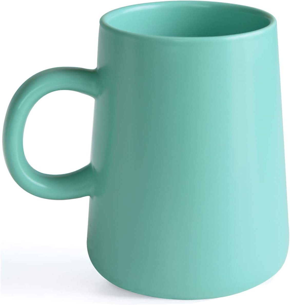 Arraden Coffee Mug, Matte Ceramic Coffee Cup, Both Hot & Cold Beverage Tea Cup for Office & Home, Suitable for Dishwasher & Microwave & Oven, 16.5 oz (Light Green)