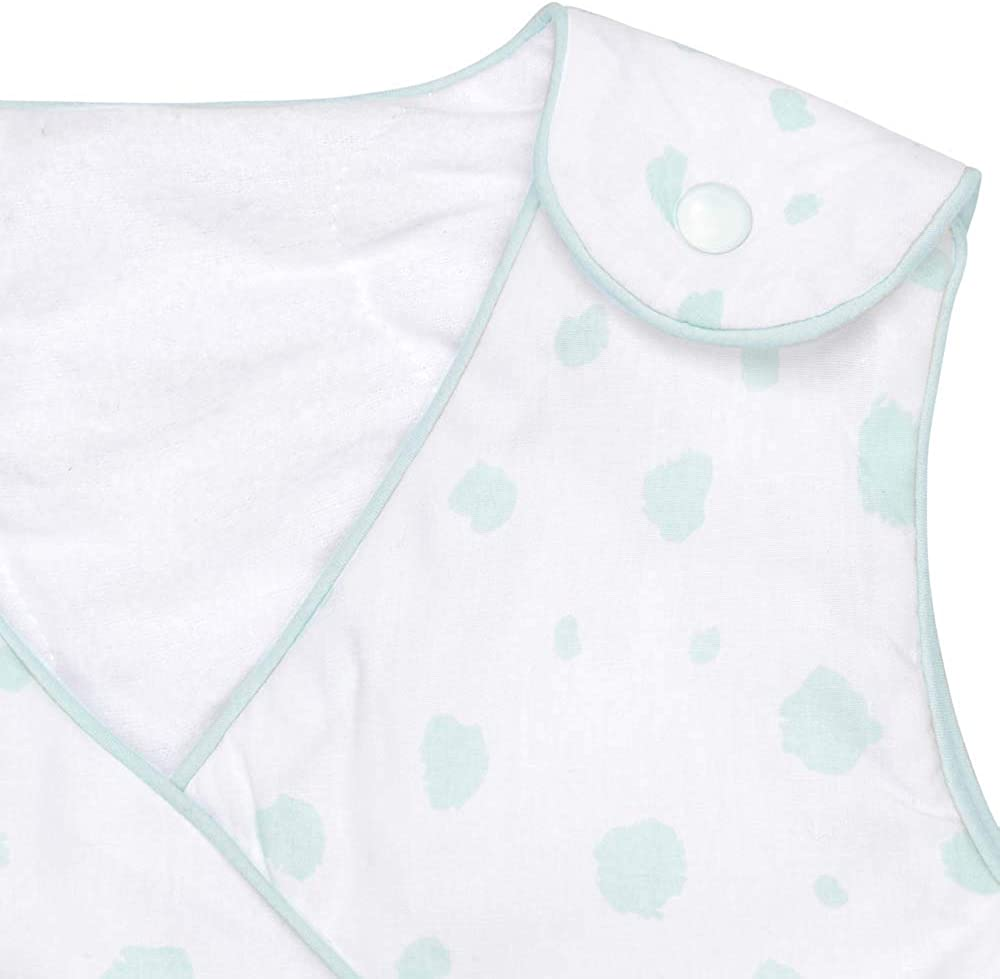 70 Tailles: 60 100/% Coton Design: Points Mint /& Peach 90 et 110cm emma /& noah Temp/érature: 15-21/°C /épaisseur 2.5 TOG Sac de Couchage b/éb/é Hiver