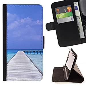 Momo Phone Case / Flip Funda de Cuero Case Cover - Naturaleza Beatiful Caribe Bach - HTC One M9