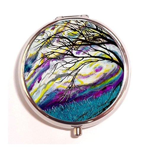 borealis-turquoise-purple-sky-custom-fashion-pill-box-medicine-tablet-holder-organizer-case-for-pock