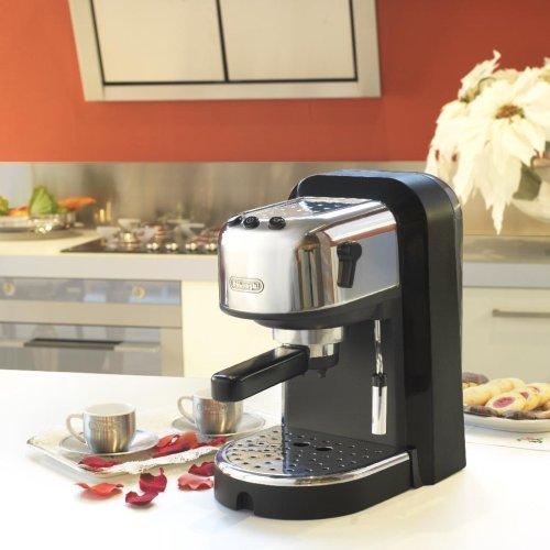 Delonghi EC270 Cafetera De Bomba Tradicional, 1100 W, 1.3 Litros, Acero Inoxidable, Negro/Gris