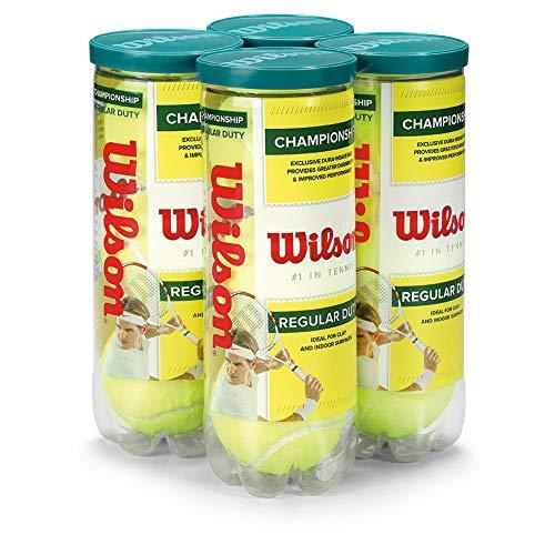 Wilson Championship Regular Duty Tennis Ball (4-Pack), Yellow - Yellow Tennis Ball