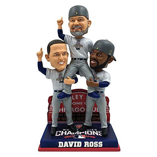 David Ross Chicago Cubs 2016 World Series Special Edition Carrying Off Field Bobblehead