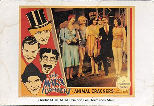 The Marx Brothers Groucho Harpo Postcard Animal Crackers A Paramount Pictures