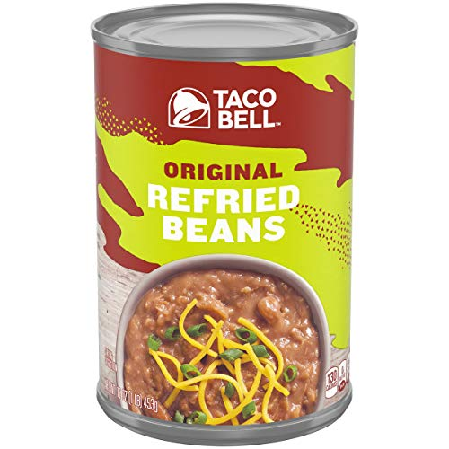 Taco Bell Refried Beans - Taco Bell Fat Free Refried Beans (16 oz Cans, Pack of 12)