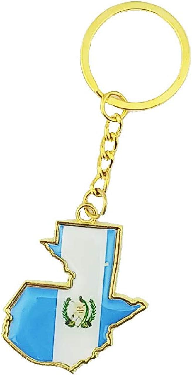 Country Shape Flag Metal Keychain