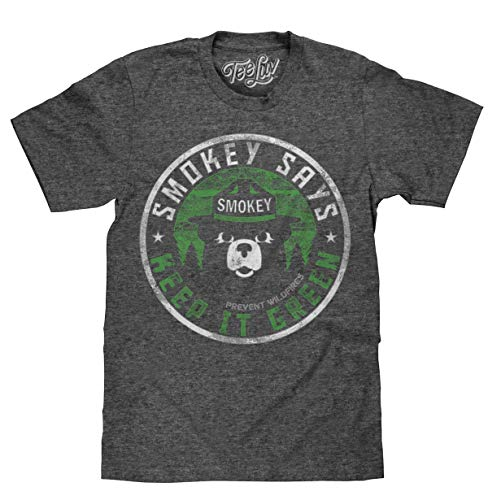 Faded Logo Tee - Smokey Keep It Green Faded Logo | Soft Touch Tee-Small  Onyx Snow Heather