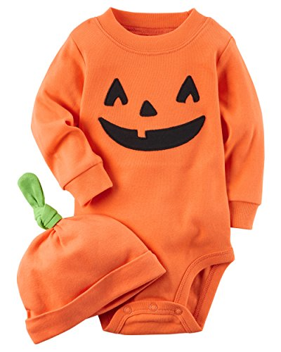 Carter's 2-Piece Pumpkin Hat and Collectible Bodysuit 18 Months]()