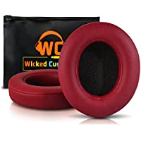 Upgraded Beats Replacement Ear Pads By Wicked Cushions - Compatible with Studio 2.0 Wired/Wireless AND Studio 3 Over Ear Headphones by Dr. Dre ONLY (DOES NOT FIT SOLO) - Burgundy