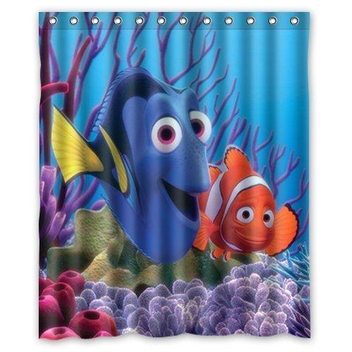 "HYGLQH Finding Nemo Shower Curtain, Custom Waterproof Bath Curtain (60""W x 72""L Inch) HYSC-60U021"