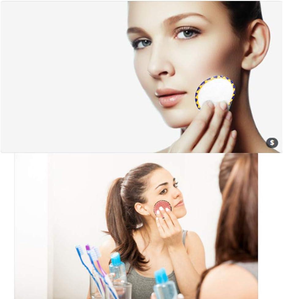 SPECOOL 14Pcs Coton D/émaquillant Lavable /&1Pcs Sac /à Linge,Lavable et r/éutilisable,Coton D/émaquillant Lavable pour visage maquillage Remover essuyer