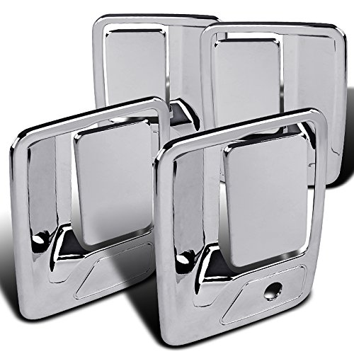 Spec-D Tuning DRH-F25099C F250/350/450/550 SuperDuty Excursion 4PC Chrome ABS Door Handle Cover (Grill Cover For Superduty)
