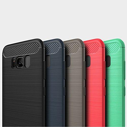 Funda Samsung Galaxy S8 Plus,Funda Fibra de carbono Alta Calidad Anti-Rasguño y Resistente Huellas Dactilares Totalmente Protectora Caso de Cuero Cover Case Adecuado para el Samsung Galaxy S8 Plus C